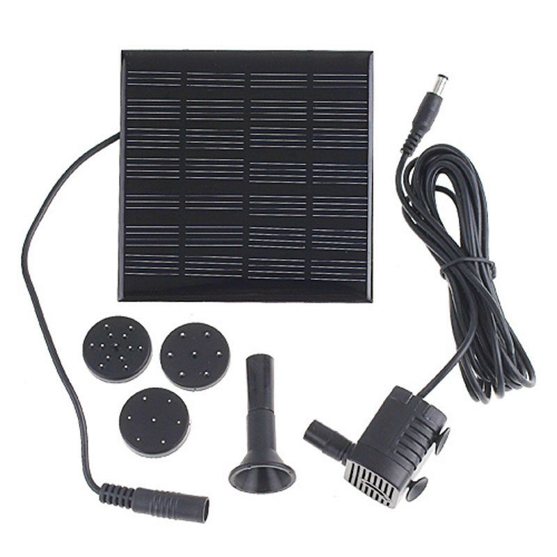 Solar panel power submersible fountain pond water pump for Solar pond pump