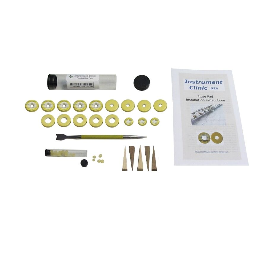 IC270 Open Hole Flute Pad Kit for Yamaha flutes w Instructions, Grommet  Tool! | eBay
