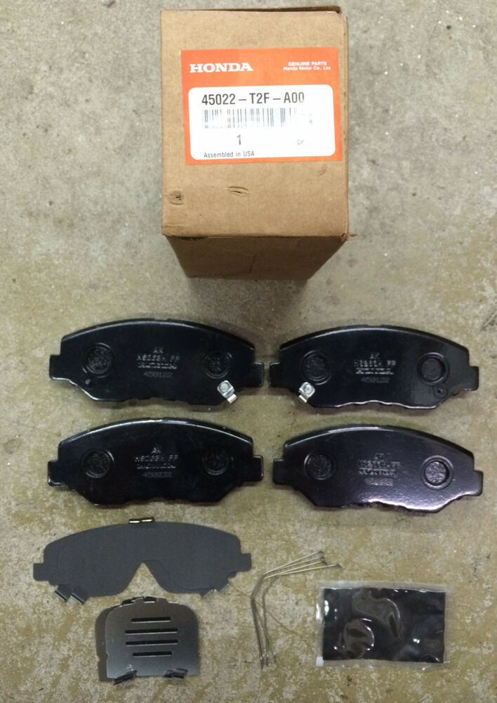 genuine oem honda civic front brake pad set 13 15 lx ex ex l se brakes pads ebay. Black Bedroom Furniture Sets. Home Design Ideas