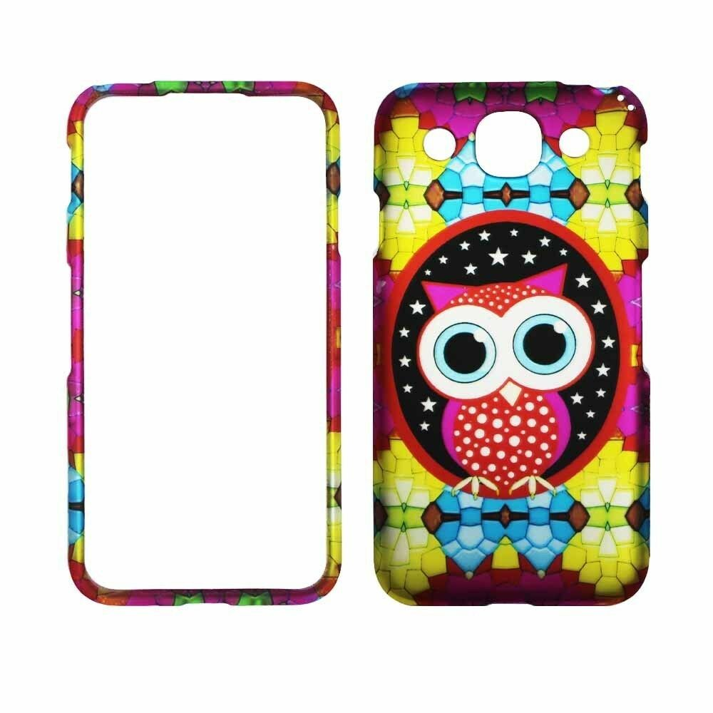 Colorful Star Owl For LG Optimus G Pro E980 Rubberized Feel Case Cover ...