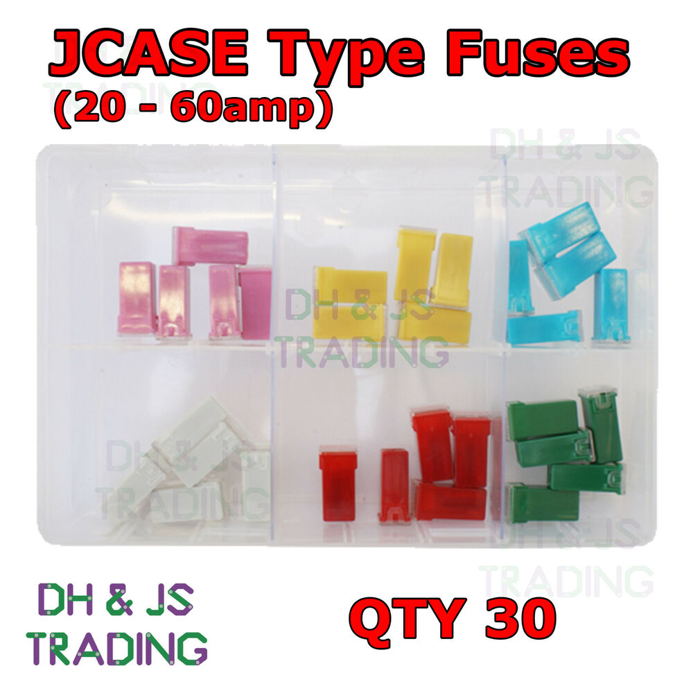 Assorted Box Of Jcase Type Fuses 20