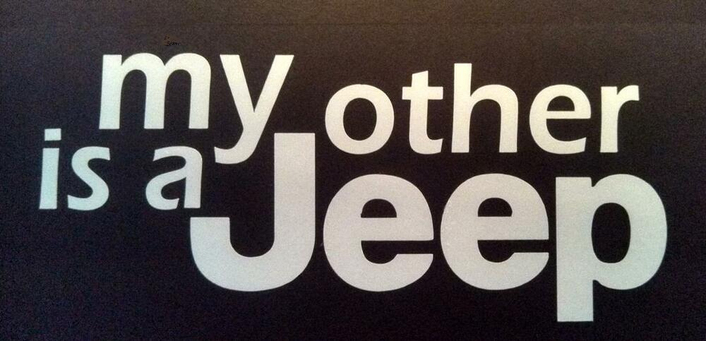 Jeep My Other Jeep Is A Jeep Vinyl Bumper Sticker Decal