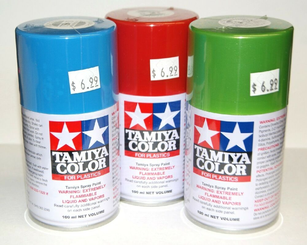 Tamiya Spray Laquer Paints For Model Hobbies 3oz Can Over 50 Colors Avail Ebay