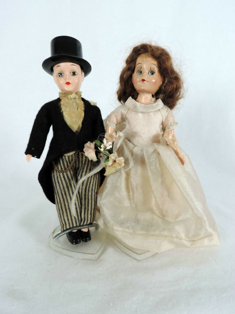 wedding cake dolls images antique pair of wedding dolls and groom cake topper 22540