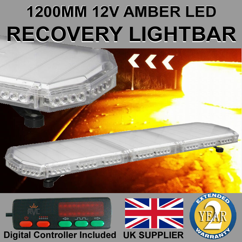 1200mm 48 Quot Led Light Bar Recovery Flashing Amber Warning