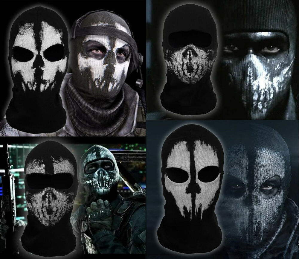 COD Call of Duty 10 Multi Ghosts Balaclava Face Skull Mask ...