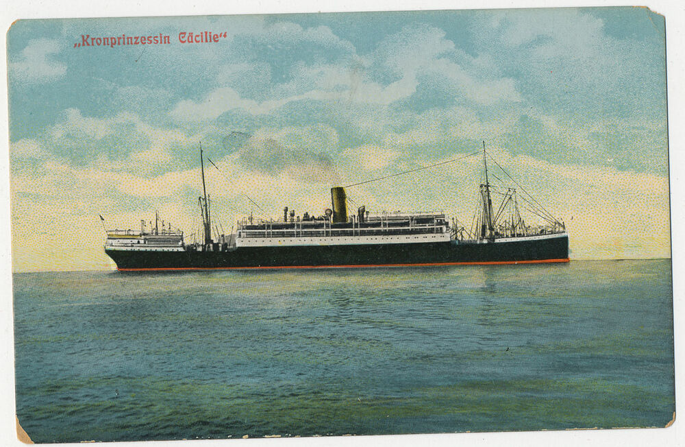 SS Kronprinzessin Cacilie @ Sea - North German Lloyd | eBay