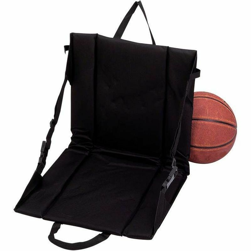 Black Stadium Bleacher Cushion Chair Padded Folding Portable Sports Seat
