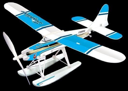 Blue Wing Seaplane Rubber Band Powered Plane Kit