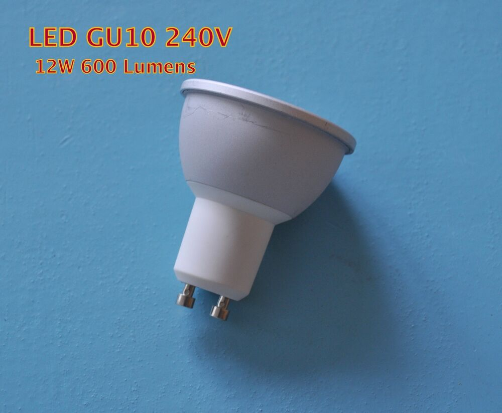 10w 12w gu10 cob led light bulb dimmable or non dim brighter than 50w halogen ebay. Black Bedroom Furniture Sets. Home Design Ideas