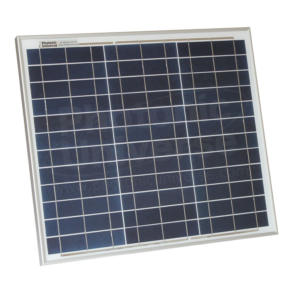 30w Solar Panel With 5m Cable For Motorhome Caravan