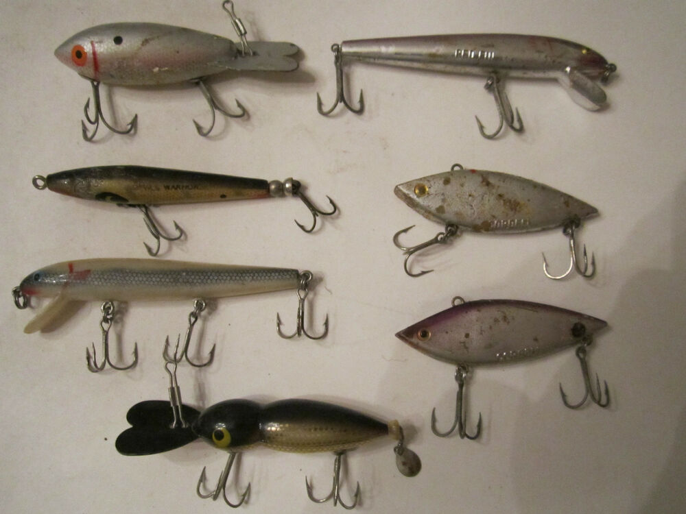 7 vintage cordell fishing lures and more redfin more for Fishing lures ebay