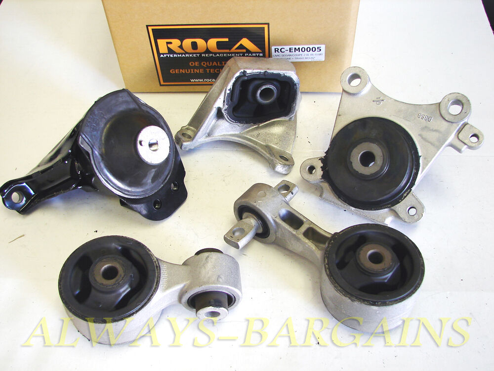 Rocar engine mount motor transmission mount bushing honda for Honda civic motor mount replacement cost