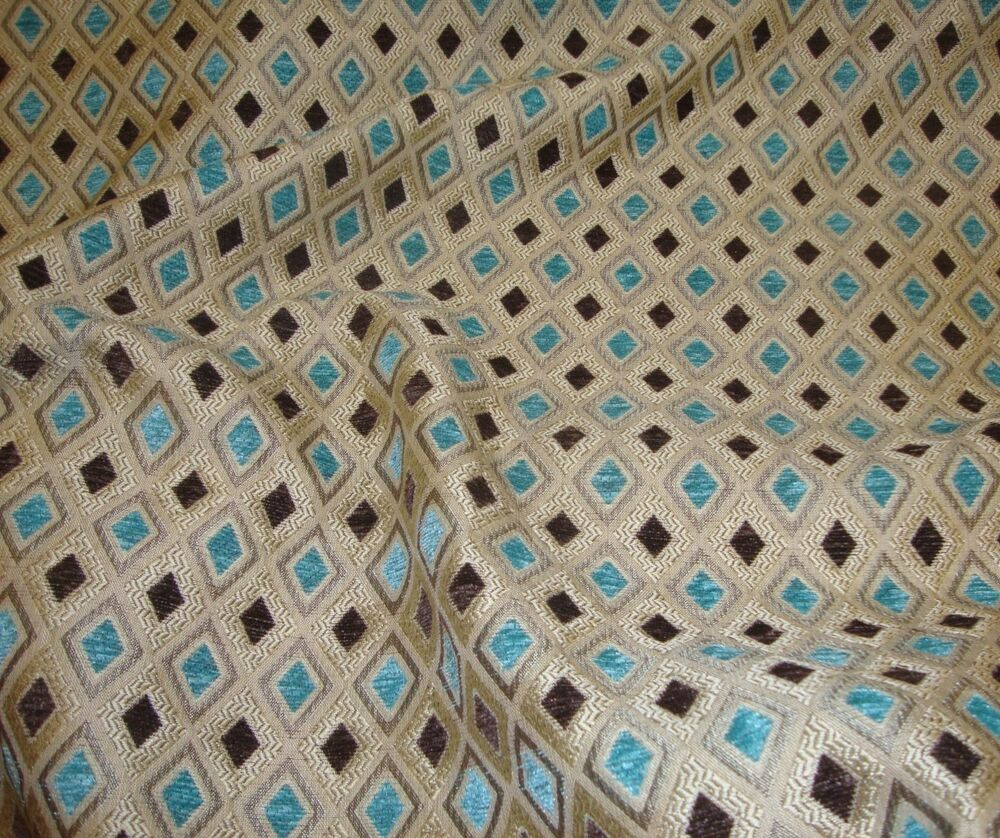 Chenille upholstery marine diamond chenille drapery fabric for Upholstery fabric by the yard