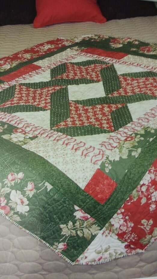Bnip Legacy Quick Quilt Fabric Pattern Christmas Quot Holiday