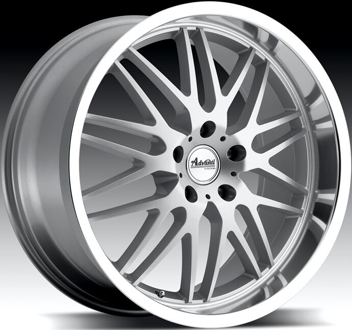 18x9 5 Advanti Racing Kudos 5x120 40 Silver Rim Wheels
