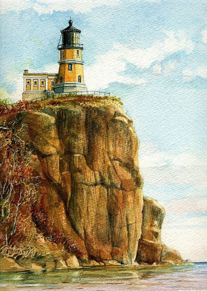 Split Rock Lighthouse Lake Superior Minnesota Matted