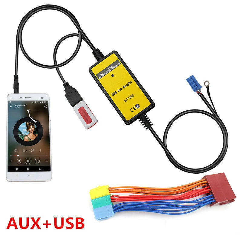 car interface usb mp3 aux in adapter for audi a2 a4 a6 s6. Black Bedroom Furniture Sets. Home Design Ideas