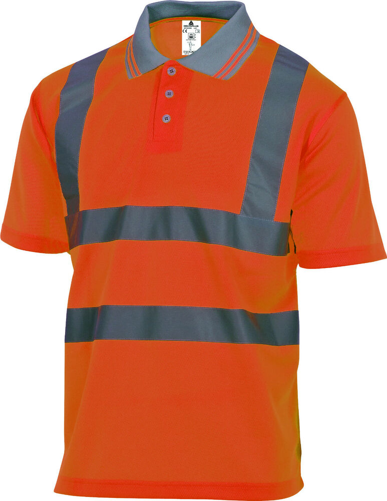 Delta Plus Panoply Offshore High Visibility Orange Polo