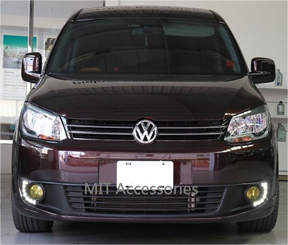 Mit Vw Touran 2011 Up Led Fog Lamp Cover Lamps Drl Lights