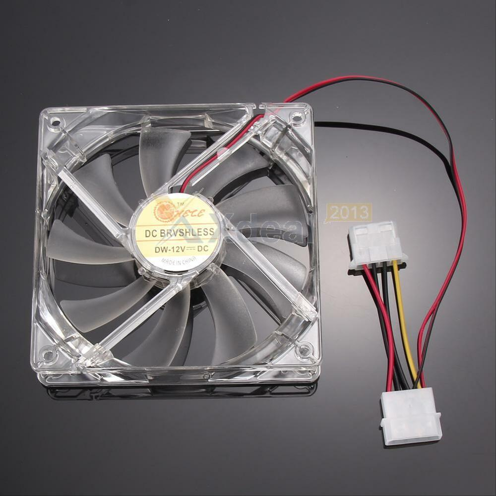 Computer Cooling Fans : Mm fans led pin connector blue light computer pc