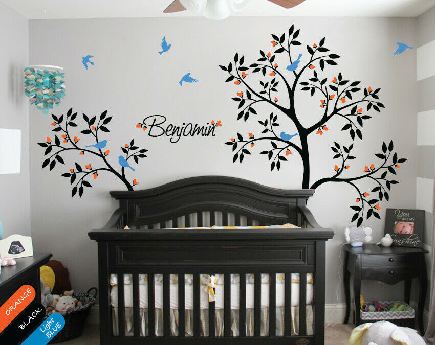Personalized Tree Wall Decal Name Decal Wall Mural Sticker