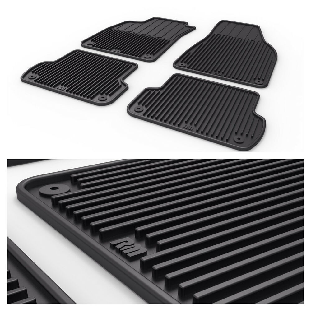 audi a4 s4 rs4 b6 b7 all weather rubber floor mats 02 03. Black Bedroom Furniture Sets. Home Design Ideas