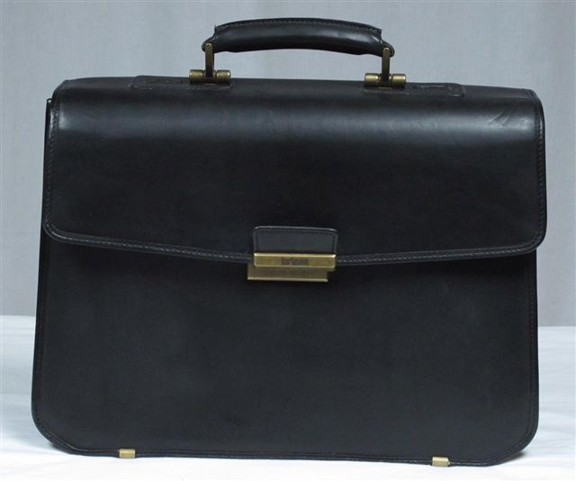 hartmann belting leather gusset flapover briefcase