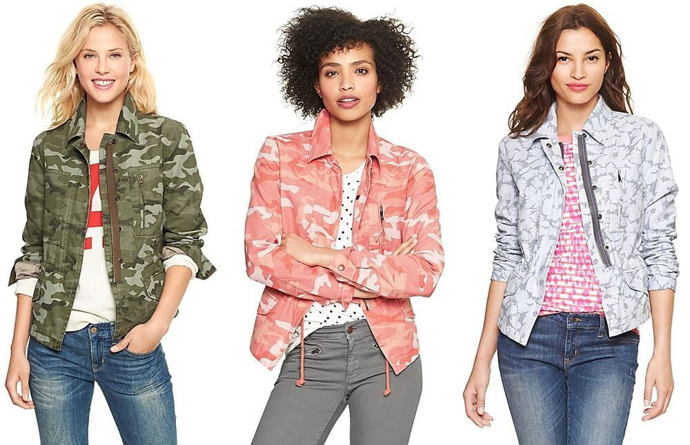 d809f6b3c3398 Details about GAP Womens Camo Printed Utility Jacket Fall Spring Coat  XS,S,M,L,XL NEW NWT