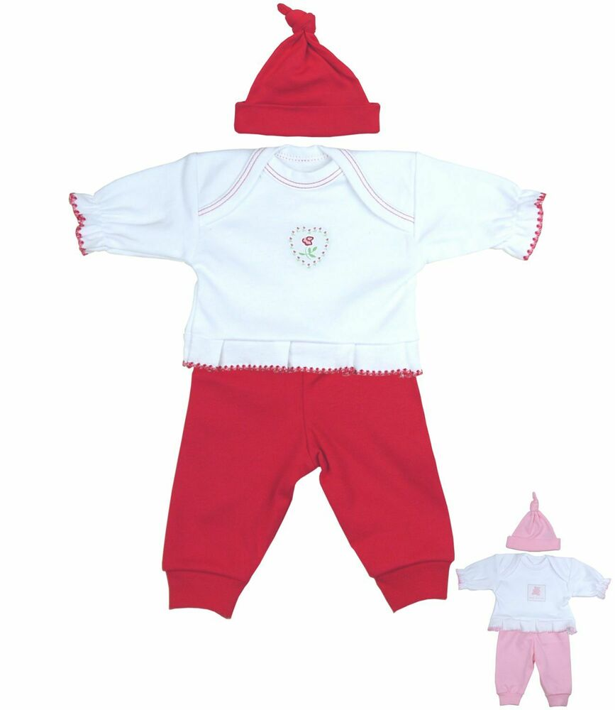 BabyPrem Premature Preemie Baby Clothes Girls 3 Piece Set