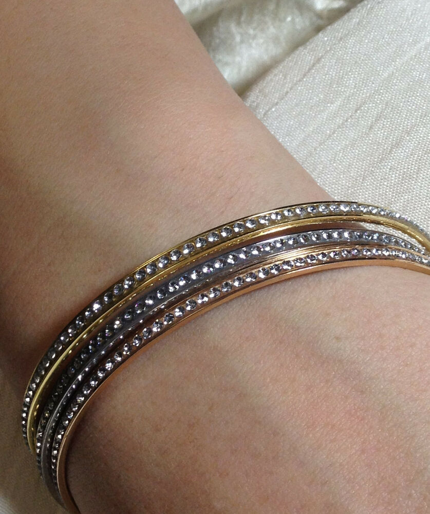 Sterling Silver Bangles Embellished with Swarovski ...