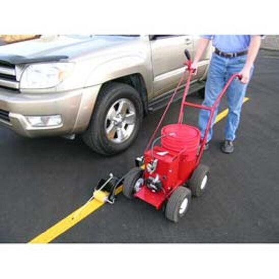 Newstripe rollmaster 5000 parking lot striping machine 5 for Parking lot painting equipment