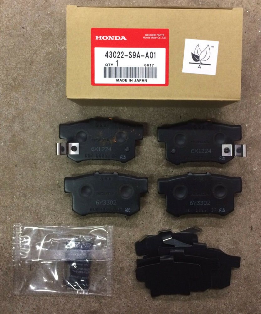 genuine oem honda accord rear brake pad set 1991 2007 brakes ebay. Black Bedroom Furniture Sets. Home Design Ideas