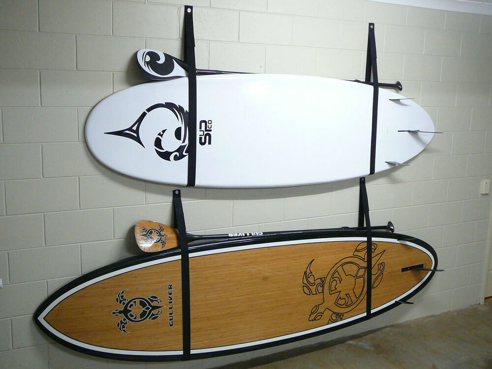 stand up paddle board sup storage rack strap 2 sets for 2 boards ebay. Black Bedroom Furniture Sets. Home Design Ideas