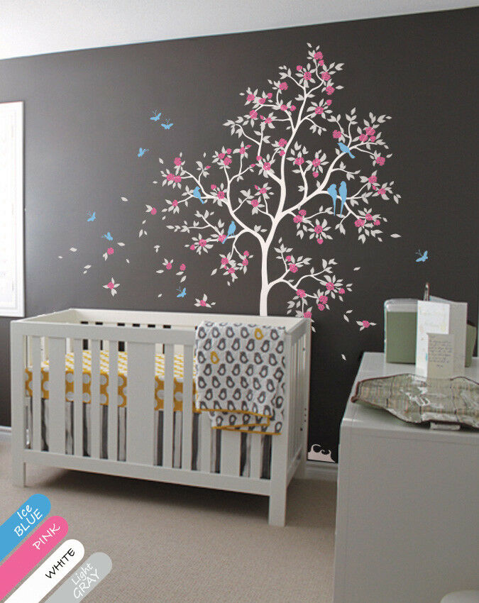 Large Tree Wall Decal Blossoms Tree Wall Sticker With