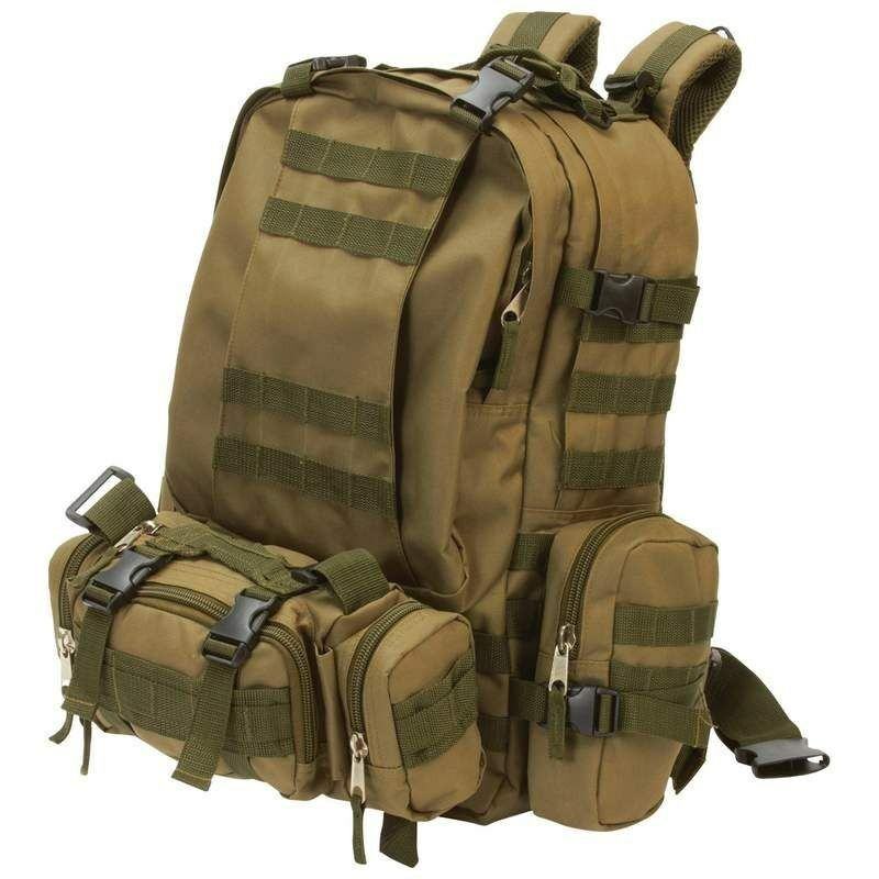 Heavy-Duty Outdoor EDC Tactical Backpack, Mens Camp Hike ...