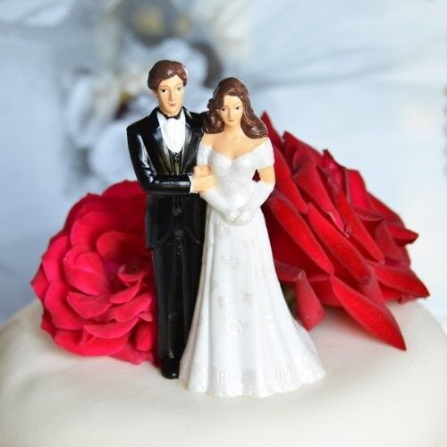 Cake Toppers Uk Bride And Groom : Vintage Bride and Groom Wedding Cake Topper eBay