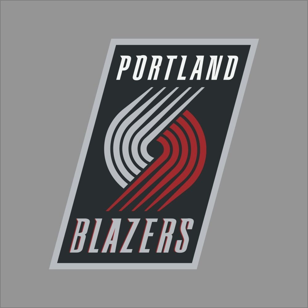 Portland Blazers Number 30: Portland Blazers NBA Team Logo Vinyl Decal Sticker Car