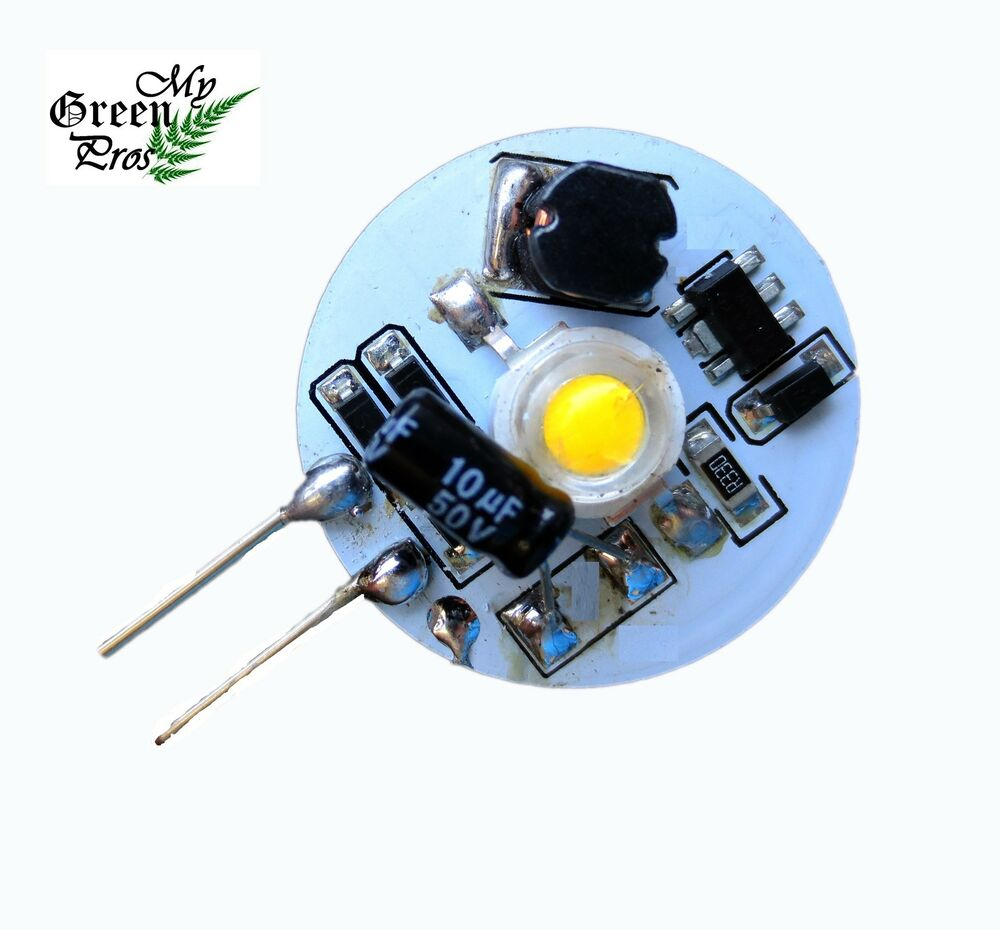 G4 Disc Type Side Pin LED Bulb, 12V AC/DC For Under