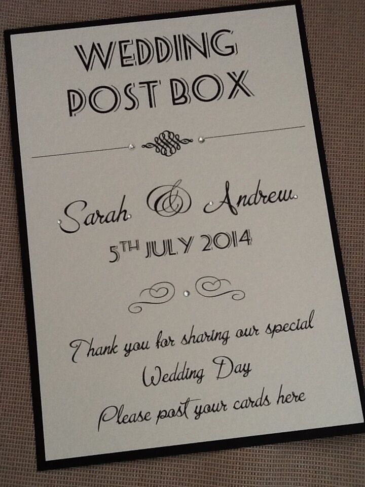 Wedding Gift Post Boxes For Cards : ... Vintage Style Portrait Wedding Post Box Wishing Well Sign eBay