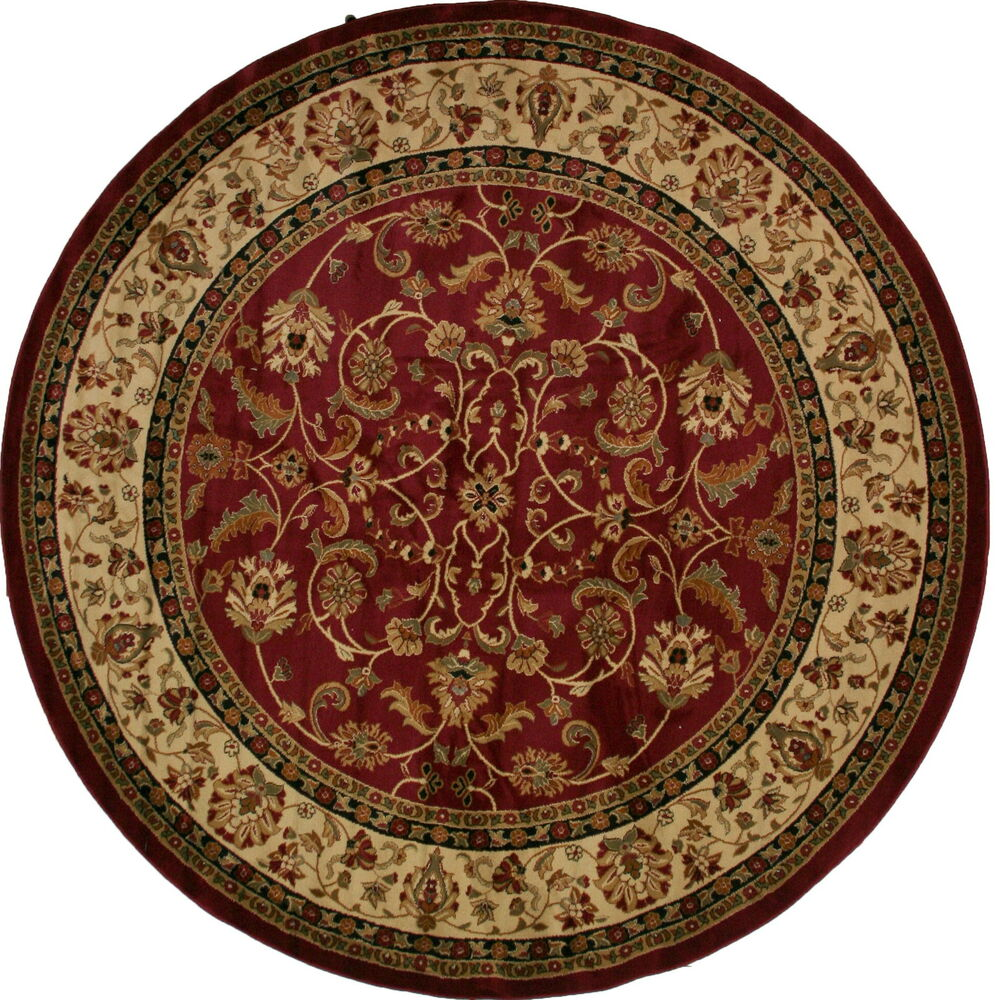 8 foot round area rug rugs new large huge traditional for Large red area rugs