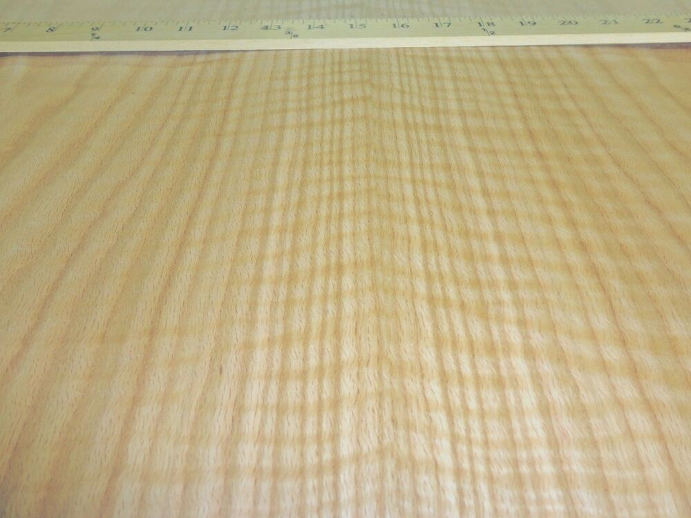 "Red Oak Figured Tiger Flame wood veneer sheet 24"" x 96 ..."