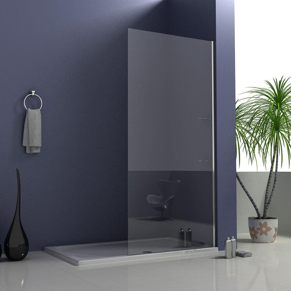 700x2050mm wet room walk in shower enclosure glass screen for Shower cubicle shelves