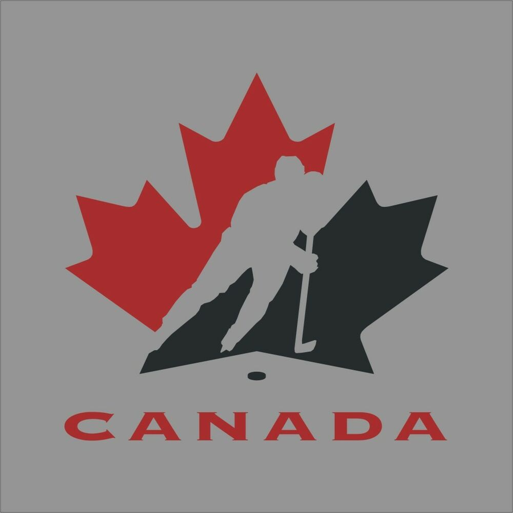 Team canada hockey logo vinyl decal sticker car window for Door mural decals