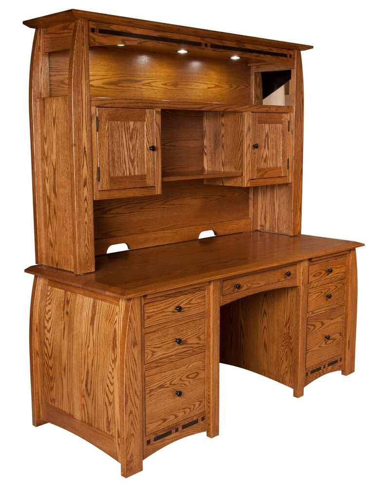 Quot amish boulder creek executive computer desk hutch home