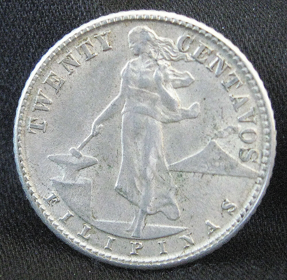 Coin Ph: 1945-D 75% Silver Philippines 20 Centavos