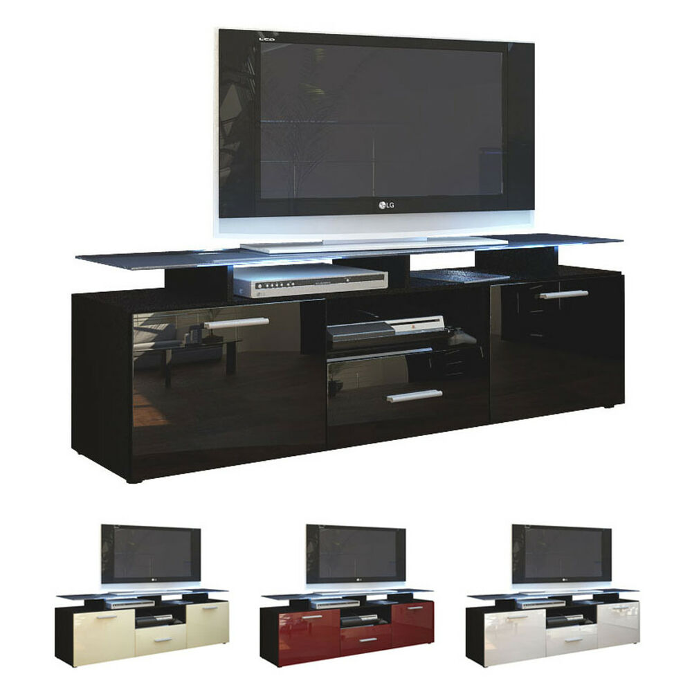 tv lowboard board schrank tisch almada in schwarz matt. Black Bedroom Furniture Sets. Home Design Ideas