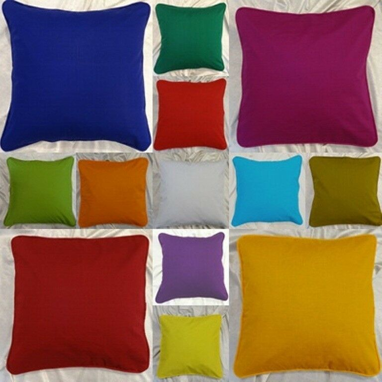 pillow case cushion cover 100 cotton soft plain solid colors custom size ebay. Black Bedroom Furniture Sets. Home Design Ideas