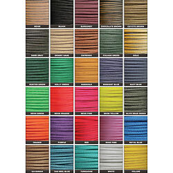 550 Paracord Type III 7 Strand Parachute Cord 25, 50, 100, 1000 ft - Made in USA