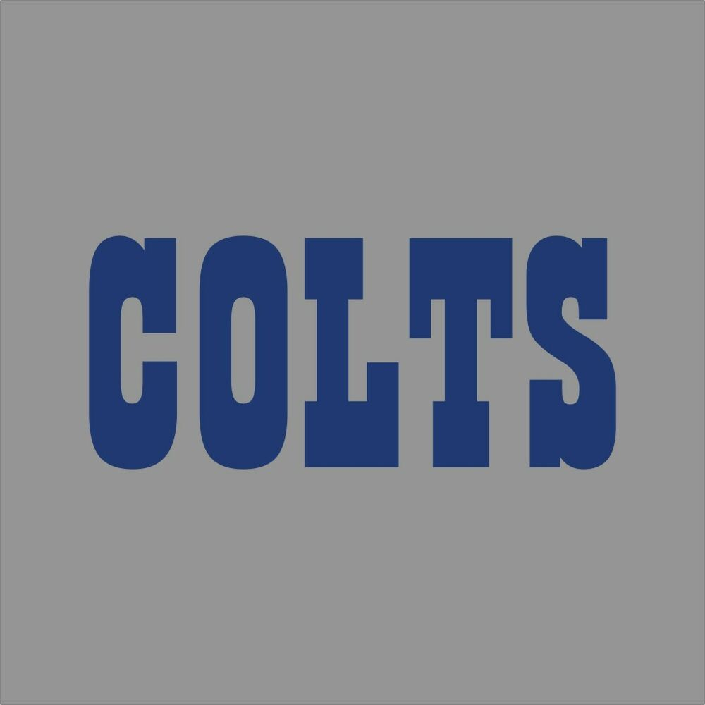 Details about indianapolis colts 2 nfl team logo vinyl decal sticker car window wall cornhole